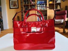 Handtasche mit Henkeln und Schulterriemen, rot, Kate Spade