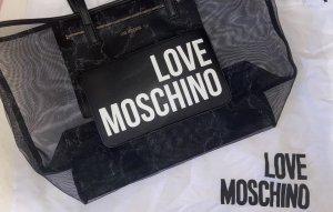 Moschino Handbag black-gold-colored