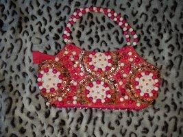 Handtasche * Neonpink * Perlen & Pailletten