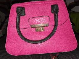 Handtasche pink /schwarz