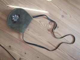 Handtasche Rauhleder braun für Trachen