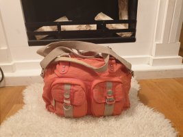 Handtasche rosa lachs mit umhängegurt von woman tchibo