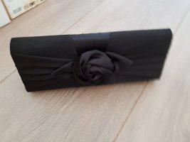 Handtasche Rose Clutch schwarz
