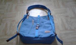 Handtasche/Rucksack Joseko blau/braun