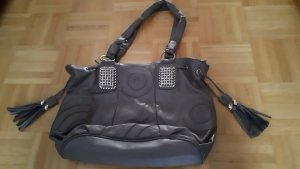 Handtasche, schick, grau, groß