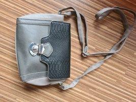 Handtasche schwarz grau