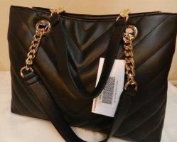 Handtasche, Tragtasche, Satchel-Tasche- schwarz