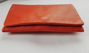 abro Clutch neon orange leather