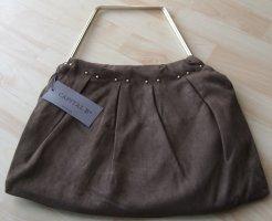 Bolso con correa marrón fibra textil