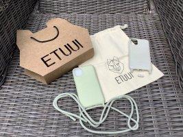 Etuui Étui pour téléphone portable gris vert-gris clair