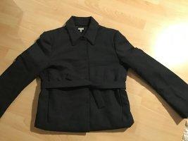 Wełniany sweter antracyt Tkanina z mieszanych włókien