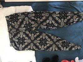 Pantalone alla turca nero-crema
