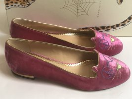 Charlotte Olympia Ballerines Mary Jane rose