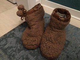 Pantoufles-chaussette brun
