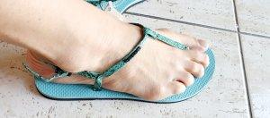 HAVAIANAS YOU RIVIERA CROCO ICE BLUE sandalen flip flop