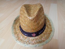 Straw Hat black-camel