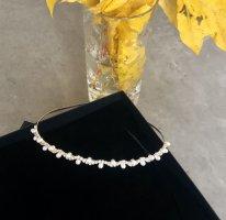 Haarband wit-zilver