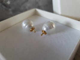 Pearl Earring white-gold-colored real silver