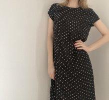 Heine Patrizia Dini Kleid schwarz weiß Punkte Polka Dots 36 S