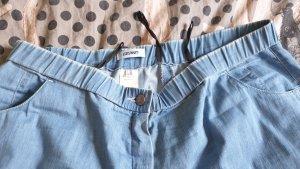 Brand Spodnie 7/8 błękitny-jasnoniebieski Bawełna