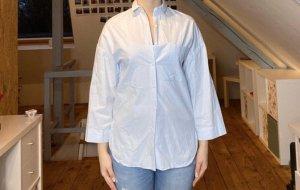 Hellblaue Basic Bluse