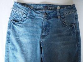 Hellblaue Denim Jeans
