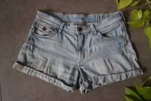 H&M DENIM Denim Shorts multicolored cotton