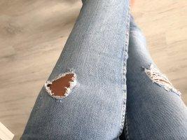 Gina Tricot Jeans vita bassa azzurro-grigio ardesia