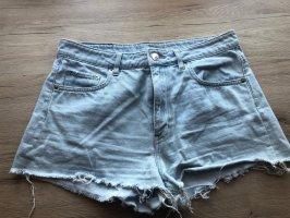 H&M Short en jean bleu azur-bleu clair