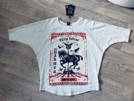 Yakuza Oversized shirt babyblauw-wit