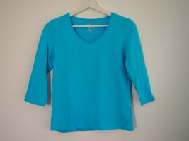 Authentic Top à manches longues bleu fluo coton