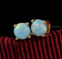 hellblaugrüner Opal, 925er Silber
