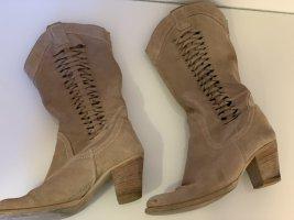Hellbraune Cowboy Stiefel von Vera Gomma Gr. 37/38