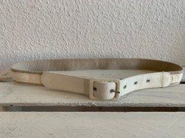 Pasek materiałowy w kolorze białej wełny-beżowy Len