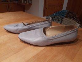 di Marzio Slip-on Shoes light grey-silver-colored leather