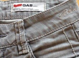 Gas Jeans coupe-droite gris clair coton