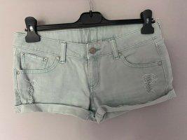 Mango Jeans Pantaloncino di jeans verde-grigio-verde chiaro Cotone