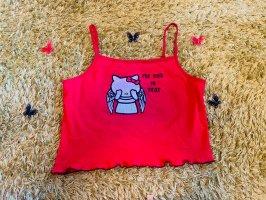 Hello kitty Koszula o skróconym kroju czarny-czerwony