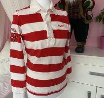 Helly hansen Sweter z krótkim rękawem biały-czerwony