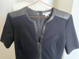 Helmut Lang Kleid mit Lederapplikation