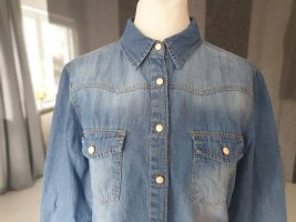 ☆ Hemd Bluse Jeans tolle Waschung Gr.36 ☆