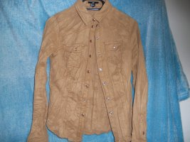 H&M Leather Blouse light brown polyester