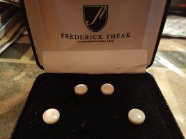 Frederick Theak Złote kolczyki w kolorze białej wełny