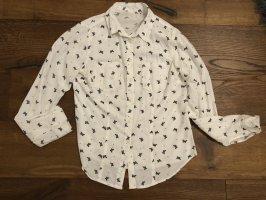 H&M Chemise à manches longues blanc