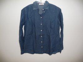 John Baner Camicia denim blu-blu neon Cotone