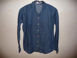John Baner Jeansowa koszula niebieski-niebieski neonowy Bawełna