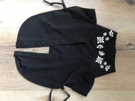 Only Chemise à manches courtes noir-argenté