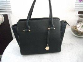 Henkel Handtasche von L.CREDI, 25x22x12 cm, schwarz