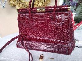 Lucia Tommasi Borsa con manico rosso mattone-bordeaux