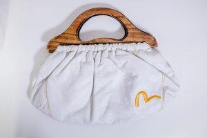 Bolso con correa blanco-marrón